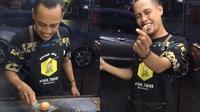 Viral di TikTok, Aksi Penjual Burger Goreng Telur Ini Bikin Pembeli Kagum (sumber: TikTok.com/kopi_kenangan)