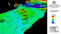 Gambar 3 dimensi dasar laut Samudera Hindia, titik pencarian MH370 (Australian Transport Safety Bureau)