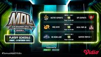 Link Live Streaming MDL Season 4 Babak Play Off di Vidio, Jumat 15 Oktober 2021. (Sumber : dok. vidio.com)