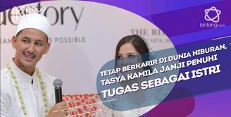 Kantongi izin berkarir di dunia hiburan, Tasya Kamila janji penuhi tugas sebagai istri.