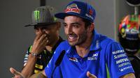 Pembalap Aprilia Racing Team Gresini, Andrea Iannone, saat masih bersama Suzuki Ecstar. (AFP/Mohd Rasfan)