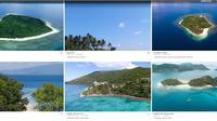 Penampakan situs online yang menjual pulau di Indonesia.