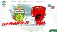 Liga 1 2018 Bhayangkara FC Vs PSM Makassar (Bola.com/Adreanus Titus)