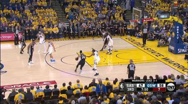 Berita video game recap NBA 2017-2018 antara Golden State Warriors melawan San Antonio Spurs dengan skor 99-91.