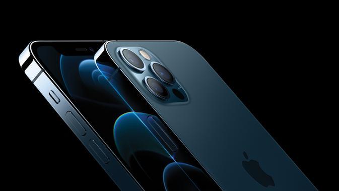 iPhone 12 Pro dan iPhone 12 Pro Max menampilkan desain baja tahan karat tepi datar baru yang ditinggikan dan penutup depan Perisai Keramik untuk meningkatkan daya tahan. Apple meluncurkan seri iPhone 12 yang mendukung teknologi seluler 5G. (Photo: Business Wire)
