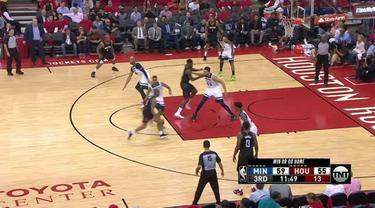 Berita video game recap NBA 2017-2018 antara Houston Rockets melawan Minnesota Timberwolves dengan skor 122-104.
