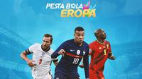 Piala Eropa - Harry Kane, Kylian Mbappe, Romelu Lukaku (Bola.com/Adreanus Titus)