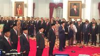 Presiden Jokowi melantik sembilan anggota Wantimpres. (Lizsa Egeham/Liputan6.com)