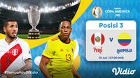 Live streaming Peru vs Kolombia di perebutan tempat ketiga Copa America 2021 dapat disaksikan melalui platform Vidio. (Dok. Vidio)