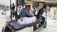 Jemaah haji yang sudah tiba di Makkah mendapat penanganan khusus bila mengalami kondisi darurat medis. (Dok Tim Pertolongan Pertama Pada Jamaah Haji (P3JH) Kementerian Agama)