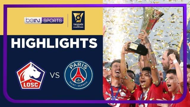 Berita video highlights final Piala Super Prancis, Lille jadi juara usai menang 1-0 atas PSG, Senin (2/8/21)