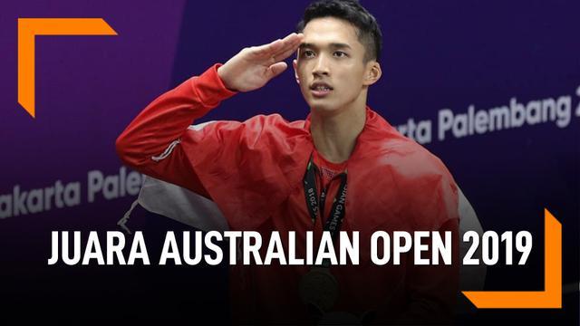 Lawan Anthony, Jonatan Christie Juara Australian Open 2019