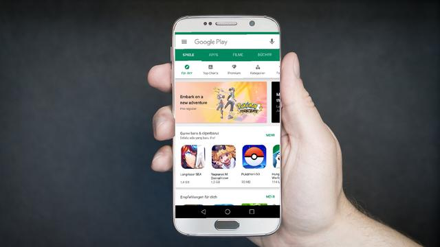 Google Play Store di Smartphone Android