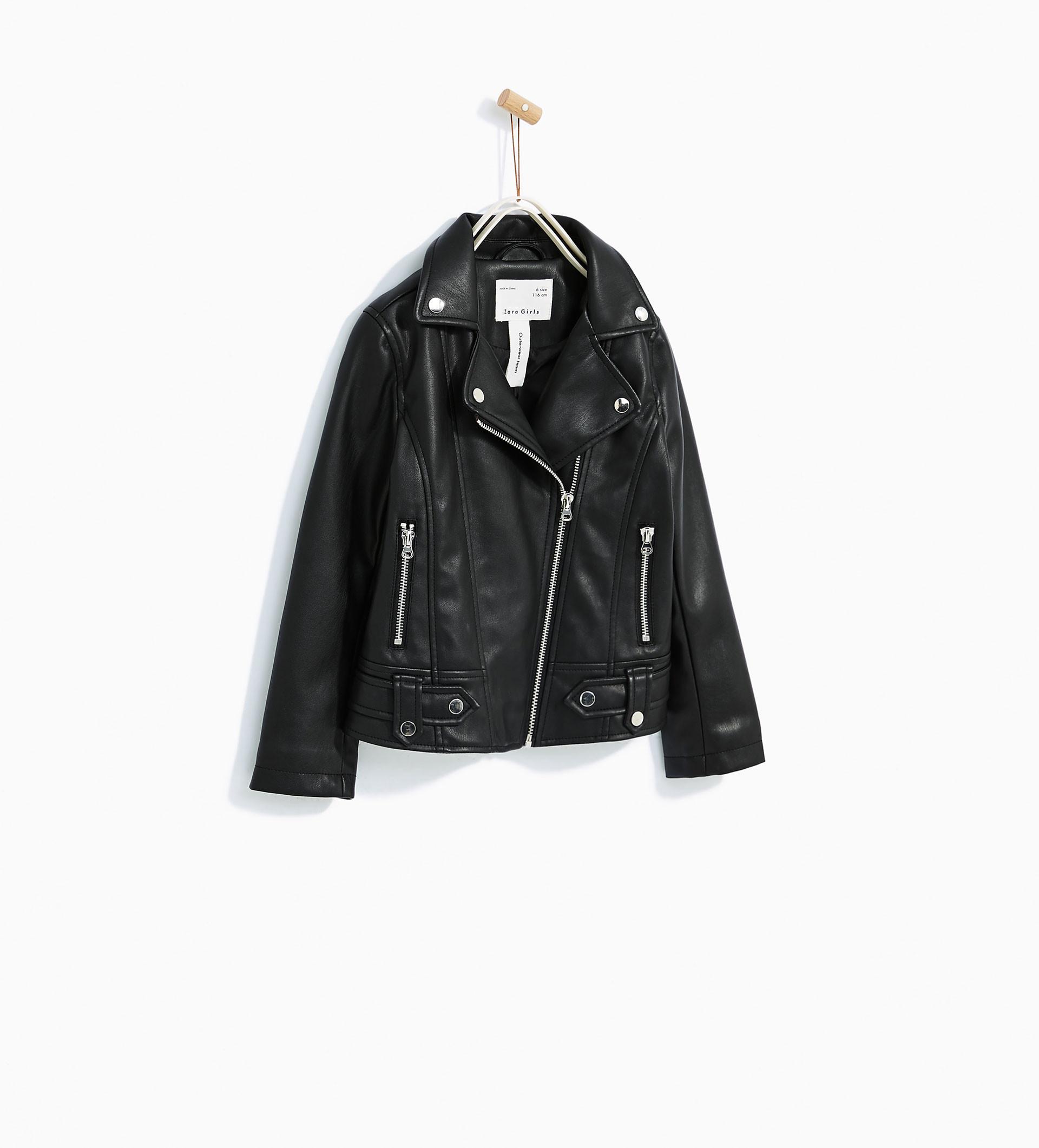Jaket kulit. (Image: zara.com)
