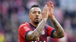 Jerome Boateng - Bek 31 tahun ini merupakan andalan di lini belakang Bayern Munchen. Kedispilinan Boateng menjaga pertahanan menjadi kunci kokohnya Benteng The Bavarians. (AFP/Christof Stache)