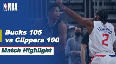 Berita Video Highlights NBA, LA Clippers Menelan Kekalahan dari Milwaukee Bucks (1/3/2021)