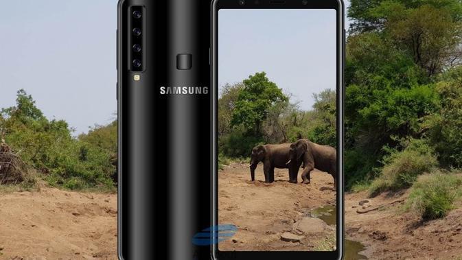 Penampakan Galaxy A9s, smartphone empat kamera dari Samsung (Foto: GSM Arena)