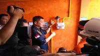 Menteri ESDM Ignasius Jonan meresmikan jaringan gas di Mojokerto, Jumat (9/2/2018). (Liputan6.com/Dian Kurniawan)