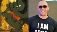 Vin Diesel tergelitik untuk membuat fans penasaran dengan menyebut adanya sekuel film animasi The Iron Giant. (imgur.com)