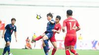 Pelatih Timnas Indonesia U-23, Indra Sjafri, mengakui timnya telat panas pada babak pertama sehingga mampu dimaksimalkan oleh Thailand. (dok. Flona Hakim)