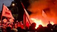 BEM SI menggelar unjuk rasa memprotes sejumlah kebijakan pemerintah.