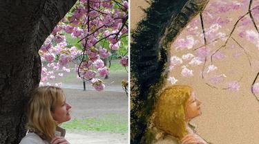 6 Potret Perbandingan Foto dan Lukisan Ini Detailnya Sempurna, Bikin Kagum