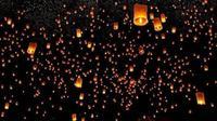 Ribuan Lampion Menghiasi Langit Malam di Thailand Saat Perayaan Festival Yi Peng (dok. Instagram @thailand)