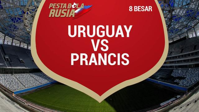 Berita video torehan data dan statistik saat Prancis menang 2-0 atas Uruguay pada perempat final Piala Dunia 2018.