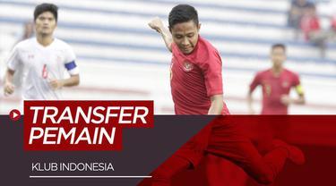 Berita video transfer Evan Dimas  ke Persija Jakarta dan para pemain klub Indonesia yang terjadi 6 - 12 Januari 2020