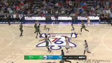 Berita video game recap NBA 2017-2018 antara Philadelphia 76ers melawan Milwaukee Bucks dengan skor 130-95.