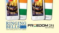 Inilah tampilan Freedom 251, ponsel termurah didunia yang diproduksi oleh perusahaan India, Ringing Bells. (Foto: GSM Arena)