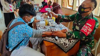 Sasar Pelajar, Kodim 0811 Tuban Habiskan 15.000 Dosis Vaksin dalam Sepekan