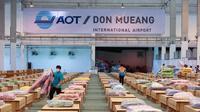 Bandara Don Mueang yang dijadikan rumah sakit darurat. (dok. Facebook Don Mueang International Airport-DMK /https://web.facebook.com/Donmueanginternationalairport/posts/1738176163044861 / Gabriella Ajeng Larasati