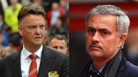 Louis Van Gaal dan Jose Mourinho (Daily Star)