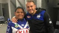 Vaka berusia 7tahun yang berat badannya mencapai 100 kg membuatnya tidak bebas bermain rugby di karenakan mengganggu pemain lainnya cedera