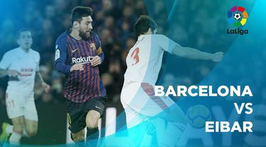 Berita video statistik Barcelona vs Eibar pada laga pekan ke-19 La Liga 2018-2019.