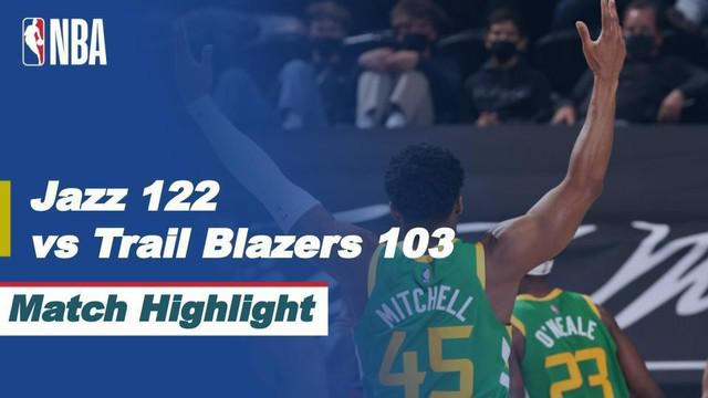 Berita Video Highlights NBA, Utah Jazz Permalukan Tamunya Portland Trail Blazers 122-103