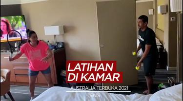 Berita Video Mengintip Latihan Darurat Para Petenis Australia Terbuka, Latihan Servis Hingga Lari 5K di Kamar Hotel