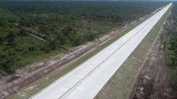 Progres konstruksi Tol Pekanbaru – Bangkinang telah mencapai 64 persen. (Hutama Karya)