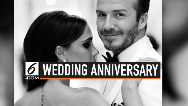 Pasangan fenomenal, David dan Victoria Beckham merayakan 20 tahun pernikahan tepat pada 4 Juli 2019. Keduanya pun saling membagikan momen kemesraan dari masa ke masa di instagram masing-masing.