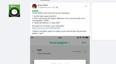 Cek Fakta Liputan6.com menelusuri cara memperoleh subsidi kuota internet 35 GB sampai 31 Desember
