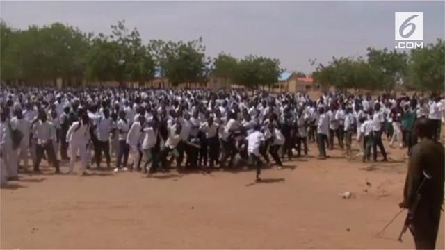 Penculikan massal terjadi di kota terpencil Dapchi, Nigeria.
