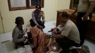 Seorang ibu muda di NTT, Susila Watiuma (27) terpaksa melahirkan di Pos Polisi. (Foto: Liputan6.com/Ola Keda)