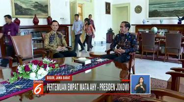 Agus Harimurti Yudhoyono bertemu Joko Widodo untuk kedua kali di Istana Bogor, Jawa Barat.