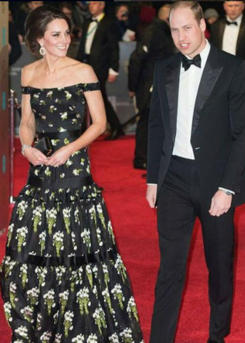 Kate Middleton di ajang BAFTA Awards 2017/Instagram @erikamitie