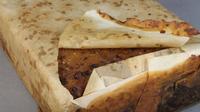 Fruitcake, kue yang diyakini berusia 106 tahun milik salah satu penjelajah Inggris bernama Kapten Scott yang dikenal dengan julukan Scott of the Antarctic. (Antarctic Heritage Trust)