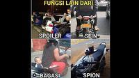 Berbagai hal bisa dijadikan Meme menarik, tidak terkecuali yang berkaitan dengan otomotif.(@harisnesia)