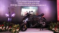 Sepeda motor listrik Gesits mulai diproduksi tahun depan. (Septian/Liputan6.com)