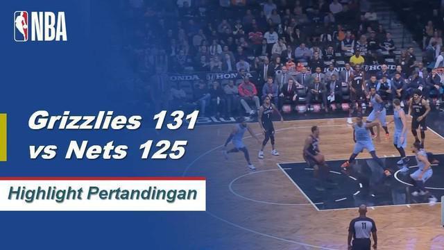 Jaren Jacksons Jr. mencetak skor tertinggi dalam karirnya 38 point, Mike Conley menambahkan double-double dengan 37 poin dan 10 assist membawa Grizzlies mengalahkan Nets