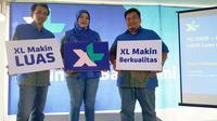 [Kiri-kanan] Manager Service Operation Management XL Central Region Dwi Handoko, Vice President XL Central Region Rd. Sofia Purbayanti, dan GM Sales XL West Java Tommy C.